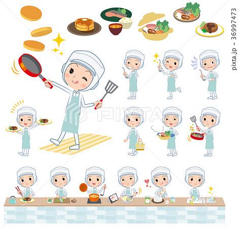 factory worker protection coat women_cooking 36997473
