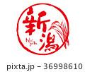 新潟 筆文字 文字のイラスト 36998610