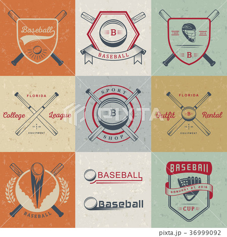 Set of Vector Logo and Badges Baseball 36999092