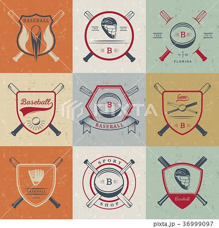 Set of Vector Logo and Badges Baseball 36999097
