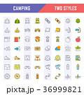 アイコン イコン キャンプのイラスト 36999821