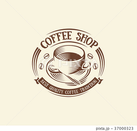 Isolated abstract brown color coffee cup logo 37000323