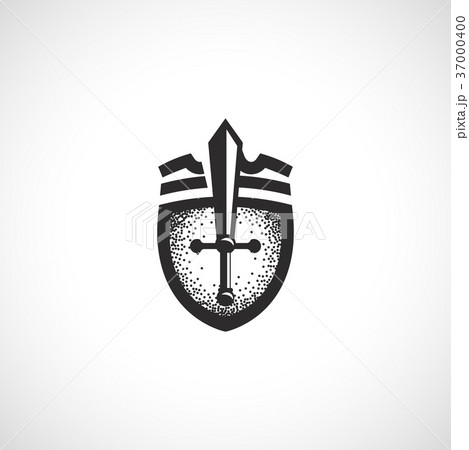 Isolated abstract medieval shield logo, coat of 37000400