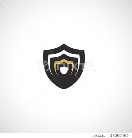 Isolated abstract medieval shield logo, coat of 37000406