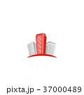 シンボルマーク 抽象 高層ビル群のイラスト 37000489