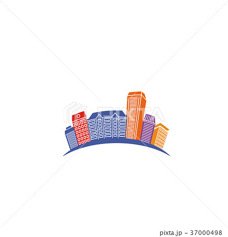 Isolated abstract colorful city skyscraper logo 37000498