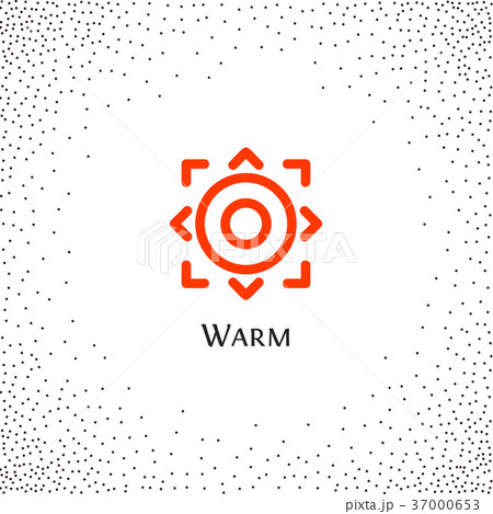 Isolated abstract round shape orange color logo 37000653