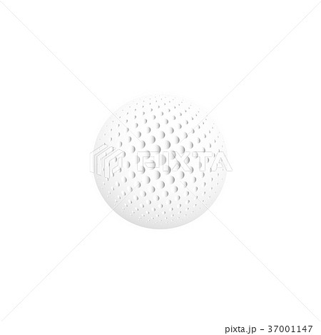 Isolated abstract white color round shape logo 37001147