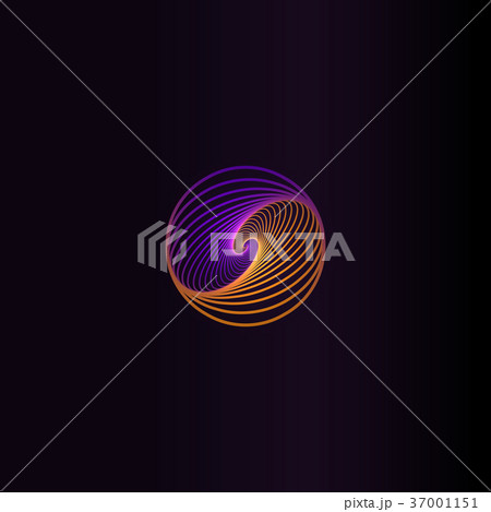 Isolated abstract colorful round shape logo, space 37001151