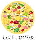 ピザ ピッツァ 料理のイラスト 37004484