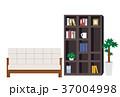 インテリア ソファー 本棚のイラスト 37004998