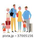 三世代 家族 旅行のイラスト 37005156
