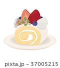 ロールケーキ スイーツ デザートのイラスト 37005215