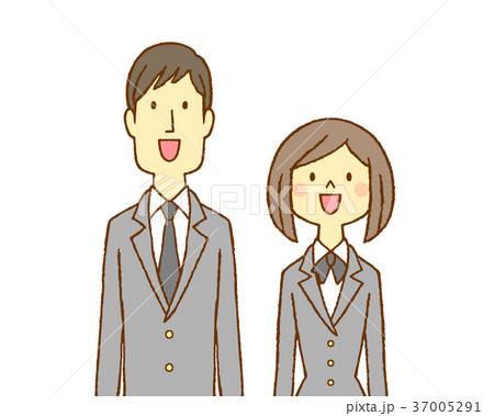 学生服の男女 笑顔 37005291