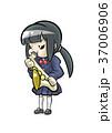サックス 演奏 女子のイラスト 37006906