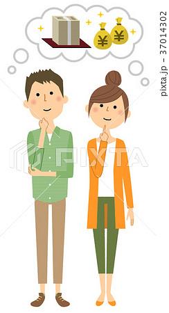 大金を想像する若いカップル 37014302