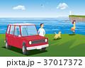 車 カップル 夫婦のイラスト 37017372