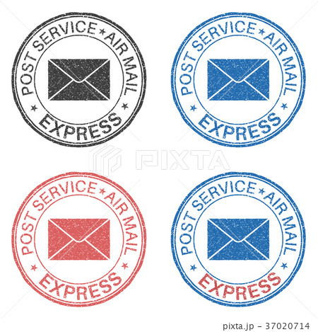 Post service EXPRESS postmark with envelope sign 37020714