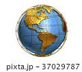地球 世界 CGのイラスト 37029787