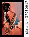 男 楽器 ジャズのイラスト 37030917