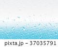 水滴 雨 ガラスのイラスト 37035791