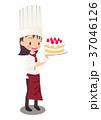 パティシエ ケーキ 女性のイラスト 37046126