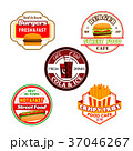 ベクトル ハンバーガー バーガーのイラスト 37046267