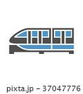 電車 列車 アイコンのイラスト 37047776