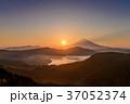 箱根大観山から富士山夕景 37052374
