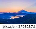 箱根大観山から富士山夕景 37052378