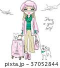 女子 トラベル ファッションのイラスト 37052844