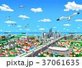 街並み 海 カモメのイラスト 37061635