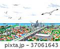 街 街並み 海のイラスト 37061643