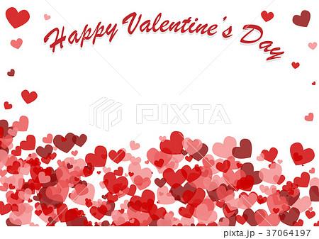 valentine s day background with heartsのイラスト素材 37064197 pixta