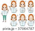 女性 表情 感情のイラスト 37064787