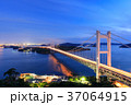岡山児島_瀬戸大橋の夜景 37064915