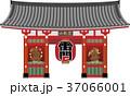 雷門 浅草寺 風神雷神のイラスト 37066001