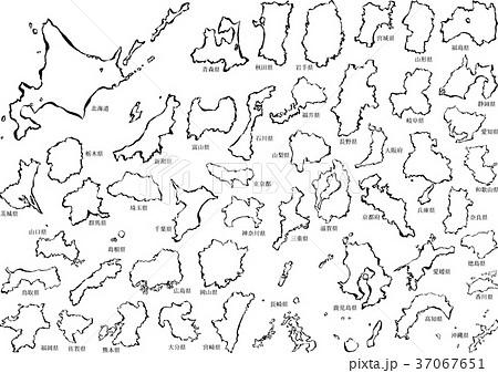 日本地図_筆 37067651