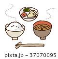 ご飯 味噌汁 漬物のイラスト 37070095