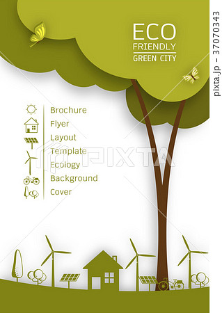 vector brochure flyer design layout template のイラスト素材