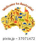 Australia map design. Australian traditional 37071472