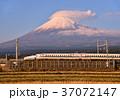 富士山 夕方 東海道新幹線の写真 37072147