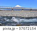 富士山 川 新幹線の写真 37072154