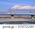 富士山 山 新幹線の写真 37072295