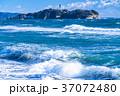 《神奈川県》江ノ島を望む・湘南海岸 37072480