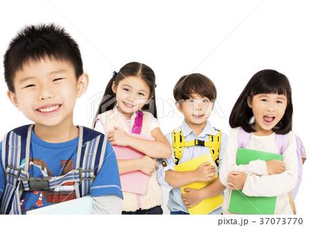 group of happy children standing together の写真素材 37073770 pixta