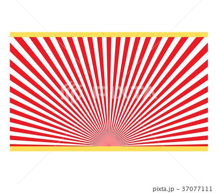 装飾背景「放射状ライン」 37077111