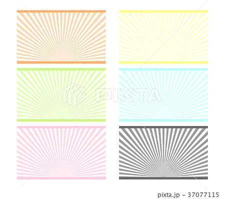 装飾背景「放射状ライン」 37077115