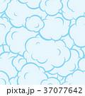 Pop art smoke seamless vector pattern blue 37077642
