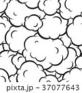 Pop art smoke seamless vector pattern 37077643